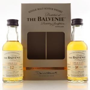 Balvenie Triple Cask 12 & 16 Year Old Miniature Set 2 x 5cl