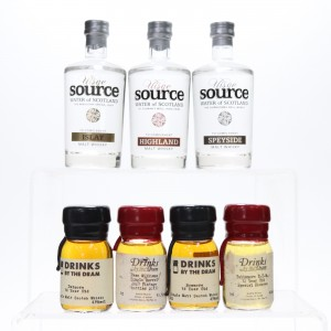 Drinks by the Dram x 4 & Source Spring Water 3 x 10cl