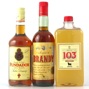 Spanish Brandy Selection 1 Litre and 2 x 70cl