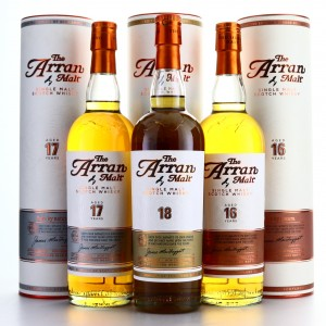 Arran 16, 17 and 18 Year Old 3 x 70cl