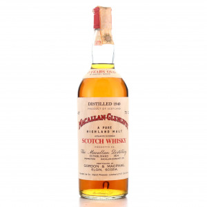 Macallan 1940 Gordon and MacPhail 33 Year Old / Co. Pinerolo Import