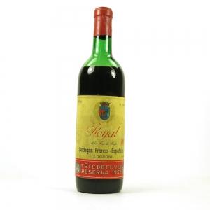 Bodegas Franco-Espanolas Royal Tete de Cuvee, Rioja DOCa 1959