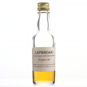 Laphroaig 10 Year Old Miniature 1970s / Low Fill Level