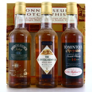 Connoisseurs Scotch Whsiky Gift Set 3 x 33.33cl 1990s / Bruichladdich, Tomintoul & Invergordon