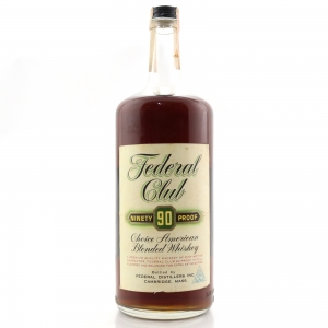 Federal Club 90 Proof 6 Year Old American Whiskey 1970s 40 Oz / 1 Imperial Quart