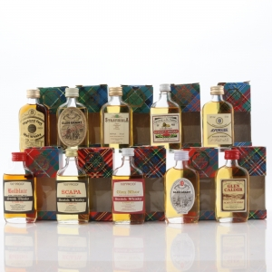 Gordon and MacPhail 100 Proof Miniature x 10 1970s/80s