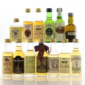 Miscellaneous Whisky Miniature Selection x 13