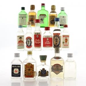 Miscellaneous Gin Miniatures x 16