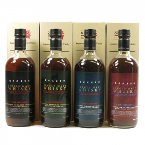 Karuizawa Cask Strength Collection 4 x 70cl Front