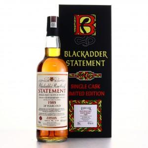 Bunnahabhain 1989 Blackadder 28 Year Old Raw Cask Statement
