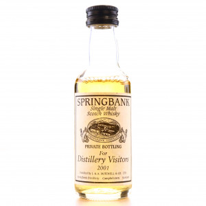 Springbank Private Bottle Distillery Visitors 2001 Miniature