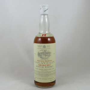 Lagavulin 12 Year Old White horse 1970s front