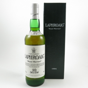 Laphroaig Royal Warrant 10 Year Old front