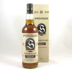 Springbank 21 Year Old (1990s bottling) Front