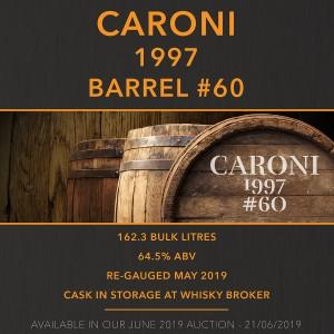 1 Caroni 1997 Barrel #60 / Cask in storage at Whiskybroker