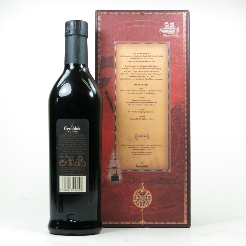 Glenfiddich 19 Year Old Age Of Discovery Red Wine Cask