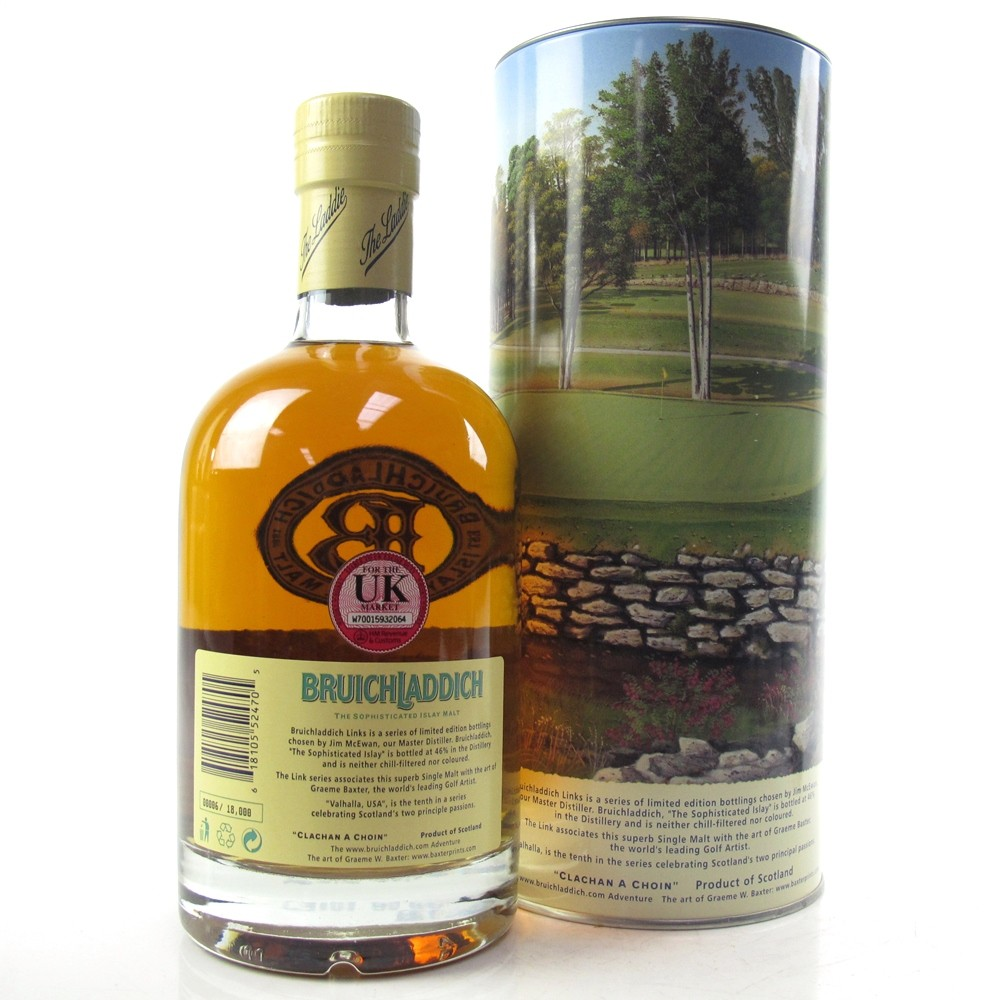 Bruichladdich Links 15 Year Old Valhalla Usa Whisky Auctioneer